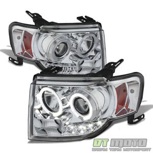 2008 2012 Ford Escape Led Halo Projector Headlights Headlamps 08 12 Left right