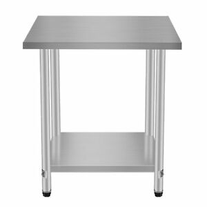 Stainless Steel Commercial Kitchen Work Food Prep Table 30 x24 Shelf Vn
