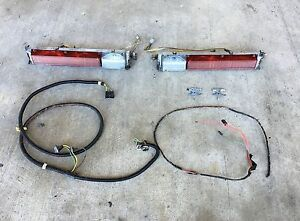 1975 1976 Sedan Coupe Deville Right Left Tailights W Harness And Retainers