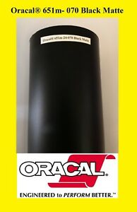 1 Roll 12 X 50 Feet Black Matte Oracal 651 Vinyl Adhesive Sign 070