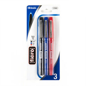 New 360533 Pen 3pc Fine Tip 3 Asst Clr 17059 24 pack School Supplies