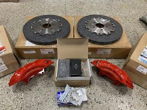 2016 Corvette Z06 Red Rear Brembo Carbon Ceramic Gm Brake Calipers Rotors Pads