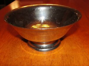 Vintage Silver Plate Footed Serving Bowl Candy Dish Trinket Jewelry Box Vase