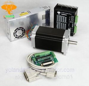 Eu Ship 1axis Stepper Motor Nema34 1232oz in 5 6a stepper Driver Dm860a Cnc Kit