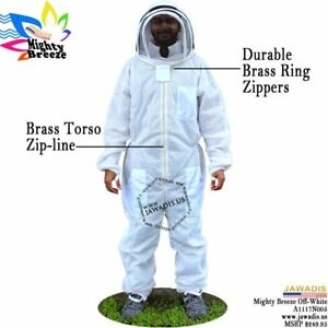 Adult Xl Full Body Vented 3 layers Bee Suit Pest Control Beekeepers Beekeeping