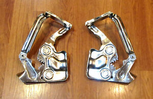 1955 1956 Chevy Hood Hinges Polished Stainless Steel Pair