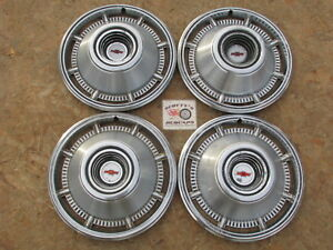 1966 Chevy Impala 14 Wheel Covers Hubcaps Set Of 4