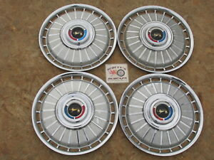 1962 Ford Galaxie 500 Sunlner 14 Wheel Covers Hubcaps Set Of 4