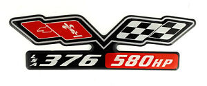 Lsa 376 580hp Chevy Supercharged Emblem W Crossflags Black Satin