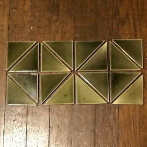 Vintage Antique Victorian Fireplace Tile Surround Hearth Mantle 16 Pcs