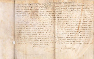1789 Rare French Notary Skin Parchment Letter Stamped Signed Manuscript