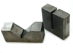 Precision Machinist V Block Set 4 1 4 x1 1 2 With 3x3x 1 Rounded End Block