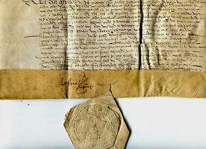 1647 Very Nice Manuscript Letter On Parchment With Very Nice Stamp Signed Docume