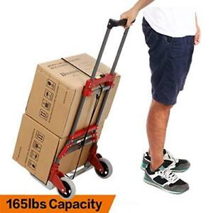 Folding Luggage Cart Portable Personal Moving Hand Truck 2 Wheels Foldable