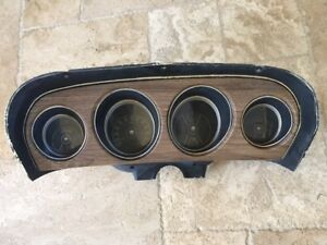 1969 1970 Ford Mustang Boss Mach 1 Deluxe Interior Wood Grain Instrument Cluster