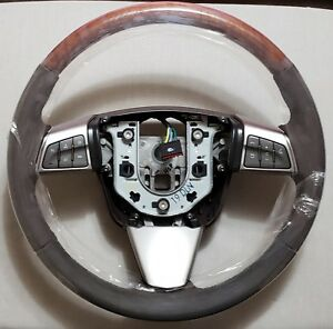 Cadillac Gm Oem 10 14 Cts Steering Wheel Brown Leather 22982691