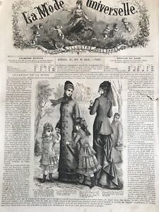 Rare 1870 S Sewing Patterns Tracings Mode Universelle July 16 1878 Corset