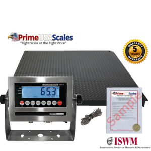 New Industrial 40 X 40 Floor Scale Pallet Size Ss Indicator 5 000 X 1 Lb