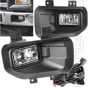 Fit 2015 2016 2017 F150 F 150 Fog Lights Kit Lamp Switch Wiring Bezels New