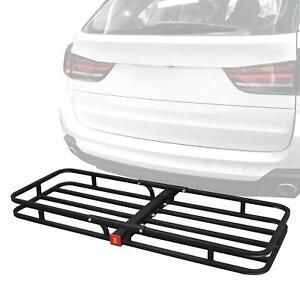 53 Universal Black Rack Cargo Carrier Extension Luggage Hold Basket Suv