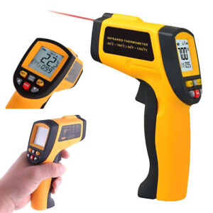 Digital Laser Infrared Thermometer Non contact Lcd Display Laser Temperature Gun