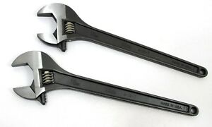 Set Of 2 Martin 18 Usa Made Professional Adjustable Mechanics Wrenches