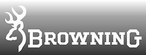 Browning Decal White Sticker Fire Arms Car Window 3 X 9 Usa Made