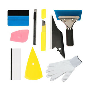 9 In 1 Car Window Tint Tools Kit Vinyl Film Tinting Squeegee Scraper Applicator