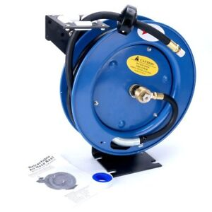 3 8 x25 Auto Rewind Retractable Air Compressor Hose Reel 300 Psi Garage Tool