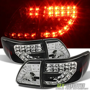 For Blk 2009 2010 Toyota Corolla Lumileds Led Tail Lights W led Signal Lamps 4pc
