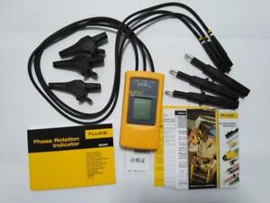 Fluke 9040 F9040 Digital Phase Rotation Indicator Tester Meter 40 700v 15 600hz