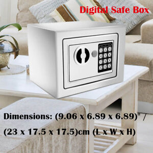 Digital Safe Box Electronic Lock Fireproof Security Home Office Money Metal Kj