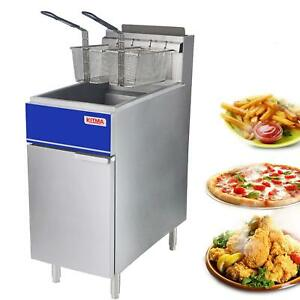 Commercial Deep Fryer Gas For French Fries 40 Lb Floor Fryer 2 Fryer Baskets