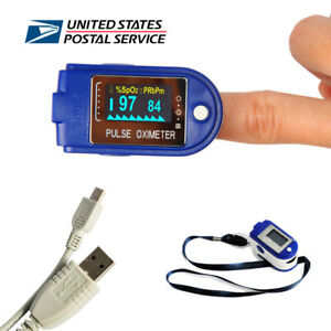 Oled 24h Finger Pulse Oximeter Spo2 Blood Oxygen Monitor Heart Rate Monitor Fda