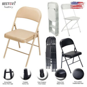 Foldable Lmitation Chairs Folding Padded Convention Rest Seats Portable Stools