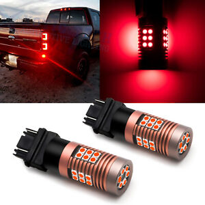 Bright Red 3156 3157k 4057r Led Tail Brake Light Bulbs For Ford F150 F250 F350
