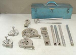 Imperial Eastman Wide Range Tube Tubing Bender Tool Kit W Original Tool Box