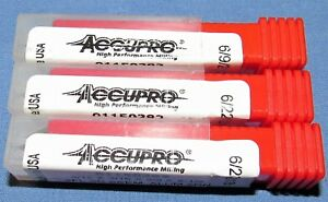 Brand New Accupro Carbide End Mill 3 16 Dia Zirconimu Coated 3 Pcs Lot