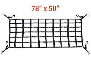 78 X 50 Truck Long Bed Cargo Nets With Cam Buckles And S Hooks New Us