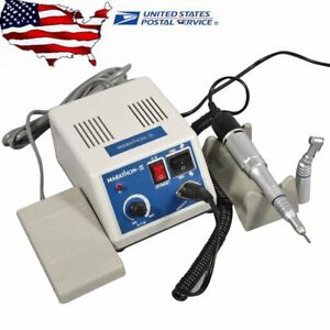 Dental Lab Marathon Electric Micro Motor 35k Rpm With Contra Angle Straight Set