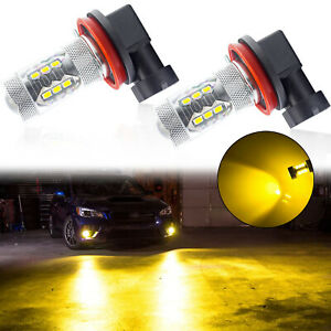 H8 H9 H11 Bright Gold Yellow Led Fog Light Bulbs For Mazdaspeed 6 Mazda 3 Rx 8