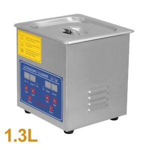 Professional Stainless Steel 1 3l Mini Ultrasonic Cleaner Heater Timer Bracket