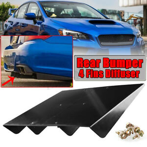 22 X 20 Textured Rear Bumper Center Diffuser 4 Fin Black For Subaru Wxr Sti