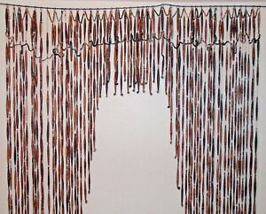Antique Victorian Paper Bead Portiere Arts And Crafts Door Curtain Ca 1900