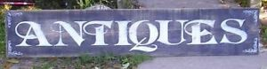 6ft X 1ft Large Handpainted Wood Antiques Sign Primitive Customize Colors