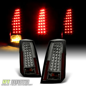 Smoked 2003 2007 Cadillac Cts Led Tail Lights Cts V Brake Lamps 03 07 Left Right