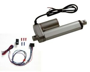 4 Inch Linear Actuator Kit 12 v W 225 Lbs Max Load includes Wiring Switch Kit