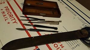 Reduced1800s Antique Vintage Surgical Autopsy Set Otto Sons Maybe Disston Knife