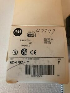 New Allen Bradley 800h r6a Red Cap 1 No 1 Nc Booted Hd Push Button Type 4 4x 13