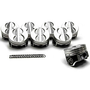 Sbf Ford 289 302 Flat Top Pistons 4 Vr Coated Skirt Hypereutectic H273cp